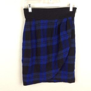 Plenty by Tracy Reese Plaid Petals Wool Skirt Sz 4